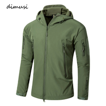 DIMUSI Autumn Winter Men Military Jacket Army Tactical Sharkskin Softshell Male Outerwear Camouflage and Coat 5XL,TA209