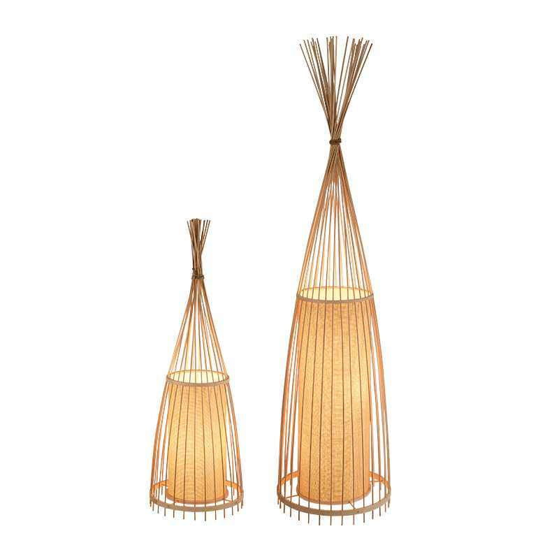 Modern Bamboo Floor Lamp Simple Creative Tea Room Floor ...