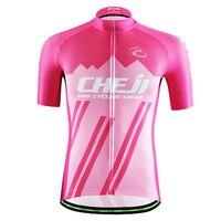 Розовый Для мужчин ретро Велоспорт Джерси Светоотражающие Велосипедный Спорт Костюмы MTB велосипед Джерси Ropa Ciclismo Гонки Cheji Майо Ciclismo S-3XL