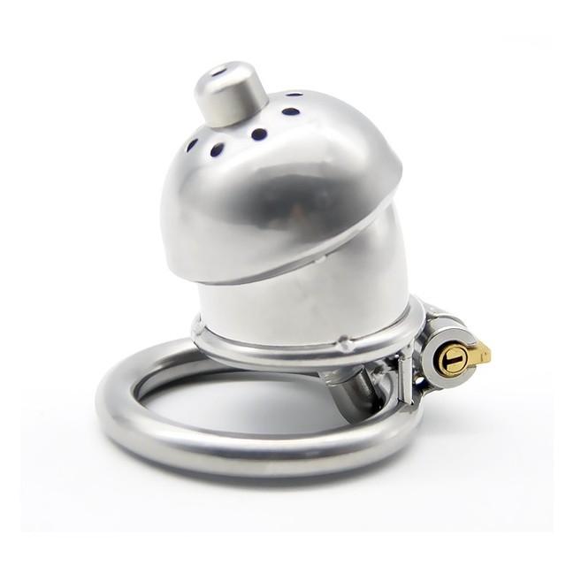 Aço inoxidável masculino castidade dispositivo gaiola caralho com stealth bloqueio som cateter masculino cinto de castidade anel sex toys produtos sexo