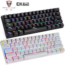 MOTOSPEED CK62 Mechanical Keyboard Bluetooth Wireless Dual Mode With RGB Backlight Keyboard 61 Keys Gaming Keyboard For LOL PUBG
