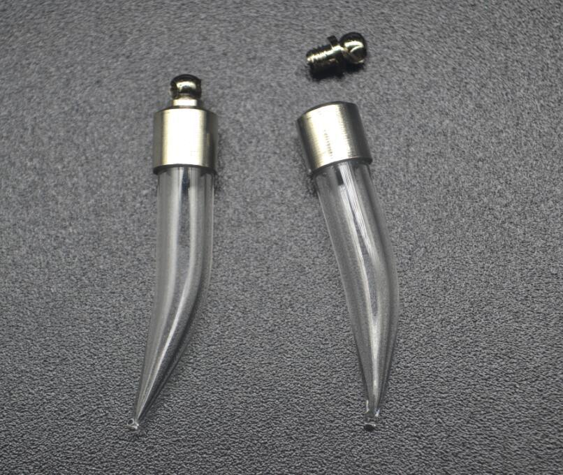 00862dccb64 5pcs lot Screw cap 39 6mm Fang tooth pepper diy glass vial pendant Wishing  Bottle jars glass globe name or rice art Holder Craft
