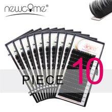 NEWCOME 10 Custodie Tutte Le Dimensioni Ciglia Estensioni Morbido Ciglia BCD Arricciatura Corea di Seta Individuale Falso Falso Del Ciglio di Trucco Strumenti