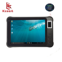 Kcosit Windows 10 Home Employee Fingerprint Time Attendance System PC Access Control Barcode Reader Waterproof Wifi Tablets GPS