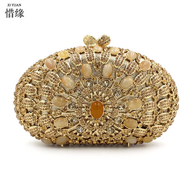 XI YUAN BRAND Luxury GEM Women Clutch Evening Bags Chain Shoulder Bags Female Handbags Party Purses Prom Box Day Clutches bride retro 2017 floral beaded handbag women shoulder bags day clutch bride rhinestone evening bags for wedding party clutches purses