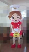 new design cook girl mascot costume for adults girl mascot costume
