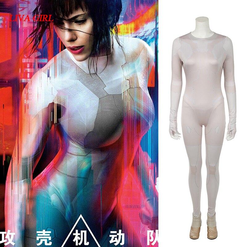 3d Print Hoge Kwaliteit Nieuwe Film Ghost In De Shell Major Motoko Kusanagi Kostuum Jumpsuit Volwassen Vrouwen Halloween Cosplay Kostuums