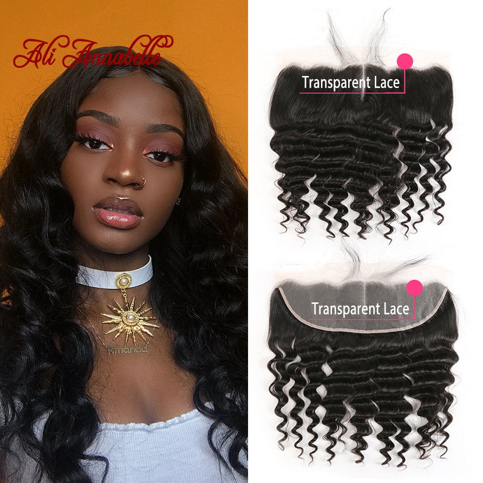 13 4 Transparent Lace Frontal Loose Wave Brazilian Virgin Human Hair Lace Frontal Pre Plucked Natural