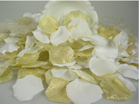 White wedding decoration 1000 rose petals white and gold flower white wedding decoration 1000 rose petals white and gold flower petals table confetti alternative flower girl petals in artificial dried flowers mightylinksfo