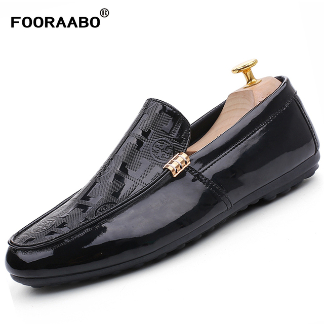 e46e4fbe620 2018 New Fashion Men s Loafers Shoes Leather Casual Flats Man Pu Leather Loafers  Moccasins Male Shoes