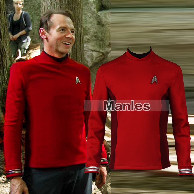 Star Trek Beyond Scotty Cospaly Costume Adult Men Halloween Cosplay Costume Men Shirt Long Sleeves Custom Made