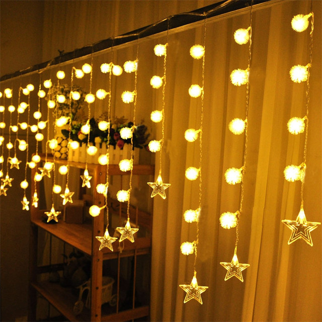 Fancy Lighting 4M 20 Drop Line 0.6M Curtain Icicle String Led Lights Fairy Led String For Garden Christmas Xmas Wedding