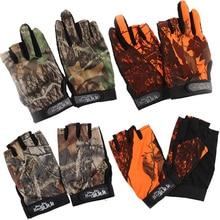 цена на Men Fishing Gloves Outdoor Non-slip Fishing Protective Gloves Three/Five Fingers Cut Sports Half Finger 30