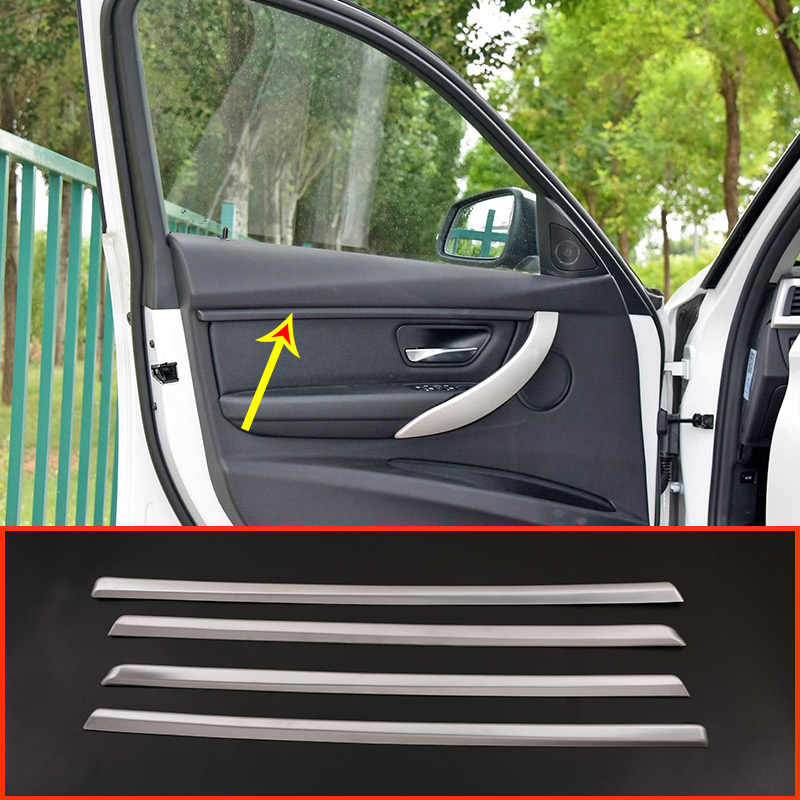 4 pcs ABS Matt Car Interior Porta Strisce di Decorazione Trim Per BMW 3 serie F30 2017-2019 Anno di Accessori4 pcs ABS Matt Car Interior Porta Strisce di Decorazione Trim Per BMW 3 serie F30 2017-2019 Anno di Accessori