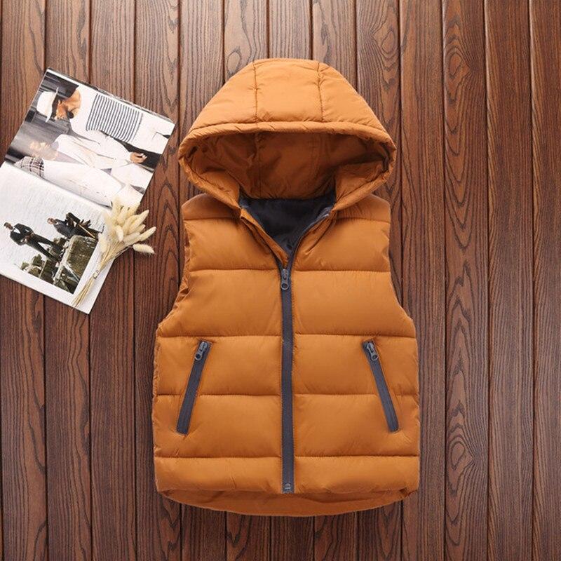 Autumn Children Warm Vest Kids Thicken Waistcoat Kids Outerwear Vest Children Clothing Teenager Boys Girls Hooded Jackets Vest 3