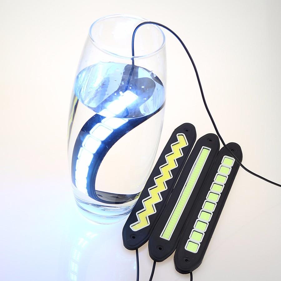 1 pary samochodów LED do jazdy dziennej (biały) Włącz sygnał - Światła samochodowe - Zdjęcie 2