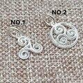 925 пробы серебряные блестящие подвески Triskelion для браслета ожерелья