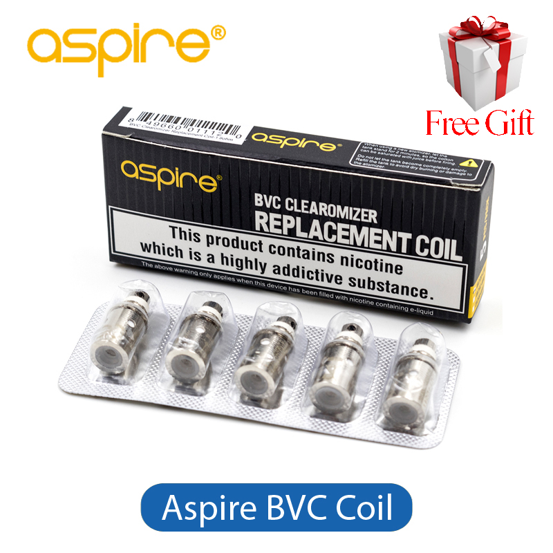 Original Aspire BVC Coil Head Replacement Aspire Spryte Coil 1.6ohm 1.8ohm For Aspire Spryte AIO Kit CE5 CE5S 5pcs/lot e cigarettes aspire bdc coil 1 6 1 8 2 1ohms replacement bottom dual coil head for aspire vaporizer 5pcs lot