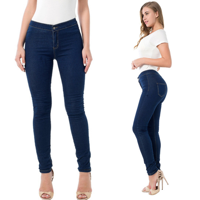 2017 Tramo Cintura Vaquera Moda De Europea Alta Jeans Skinny Mujer BzAYw6q