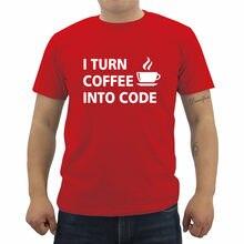 Nova T-Shirt do Verão Eu Virar Café Em Código Programador de Computador  engraçado Imprimir Casual T Shirt Dos Homens de Manga Cu. 6c6a8c1f949
