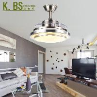Современный краткое тихий Невидимый 36/42 cm потолочный вентилятор с подсветкой для гостиной местный номер AC 110/220 В 1054