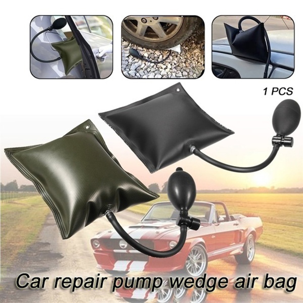 Black Airbag Cushioned Hand Pump Locksmith Air Wedge Inflatable Car Door Opener