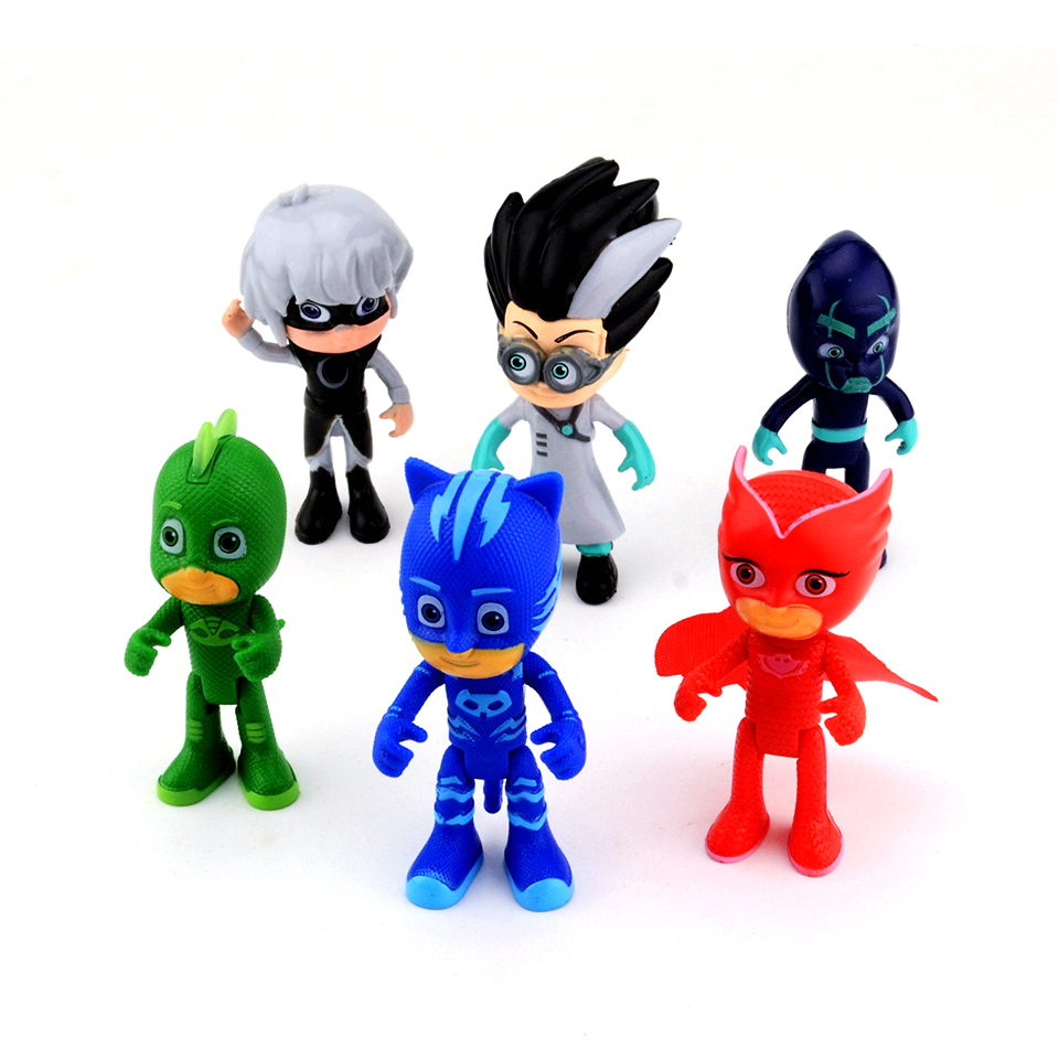 2018 New Hot Cartoon pj Figure mask Character Catboy Owlette Gekko Action Figures Toys Birthday Gift Toy For Children Boys Modl 48pcs lot action figures toy stikeez sucker kids silicon toys minifigures capsule children gift
