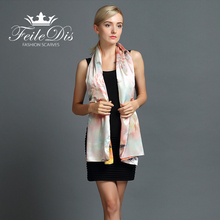 [FEILEDIS] 2017 Silk Scarf Fashion Women's Shawl Multi-purpose Scarf Double-sided Replacement Use Scarf Series FD047