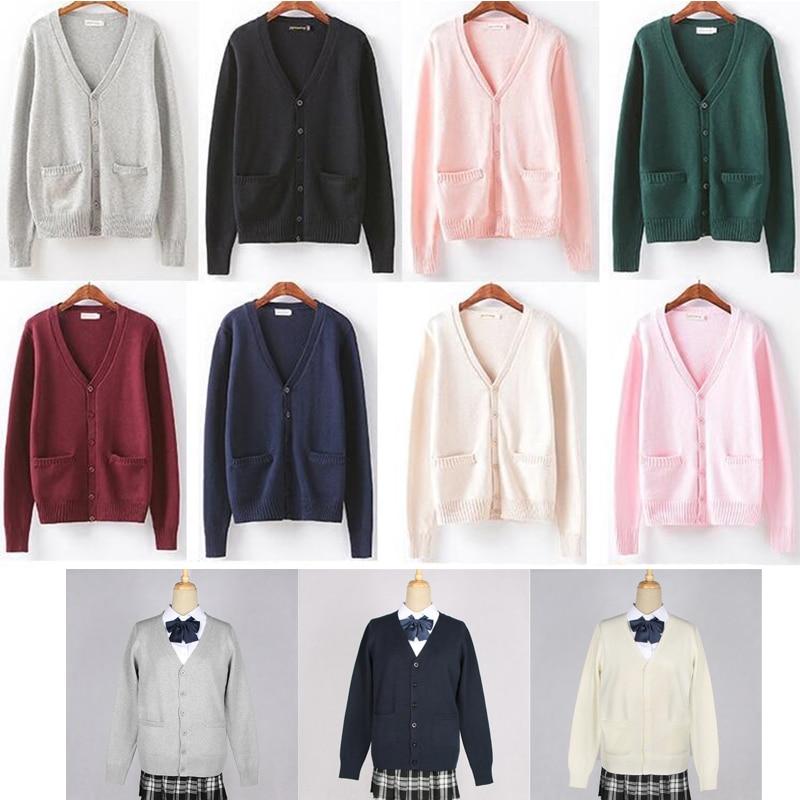 Multi Colors School Uniforms Sweater For School Girl Japanese Women Sailor Costume JK Uniform Knitwear