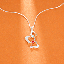 3 Heart Hollow Design Personalized Engrave Name Necklace