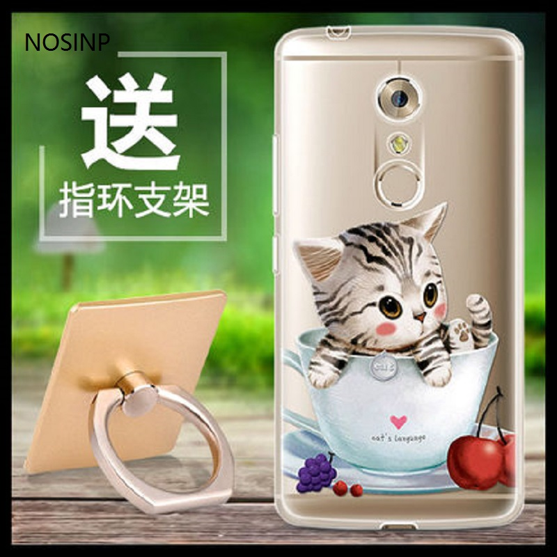 NOSINP ZTE Axon 7 case Soft silicone <font><b>phone</b></font> protection shell for Android 6.0 5.5&#8243; <font><b>2K</b></font> 2560X1440 Mobile <font><b>phone</b></font> by free shipping