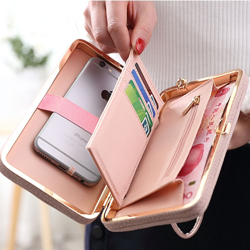 GZ-LY-GJT  Card Holders Cellphone Pocket Gifts For Women Money Bag Clutch Coin Purse Ladies Purse Wallet Female Famous Brand