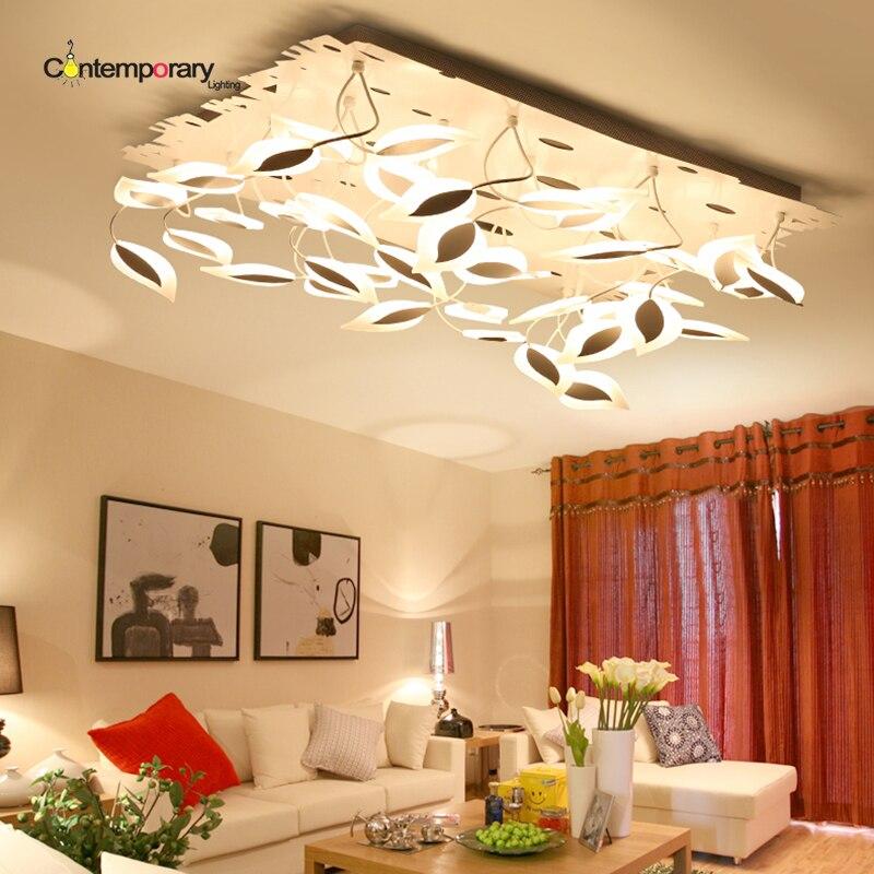 US $398.4 20% OFF Moderne led blatt deckenleuchten für acryl schlafzimmer  wohnzimmer flushmount beleuchtung plafondlamp luminarias leuchten moderne  ...