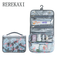 Women Cosmetic Bag High Quality PVC Waterproof Cosmetologist Make Up Bag Travel Portable Hanging Toiletry Bag