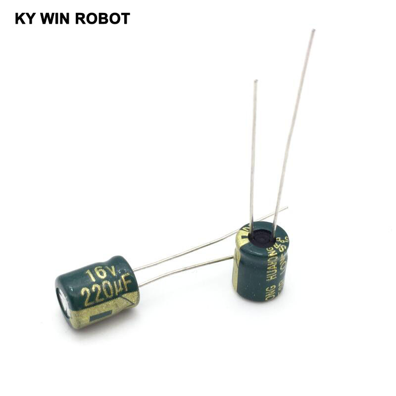 50PCS/LOT <font><b>16V</b></font> <font><b>220UF</b></font> 6*12mm high frequency low impedance aluminum electrolytic capacitor <font><b>220uf</b></font> <font><b>16v</b></font> image