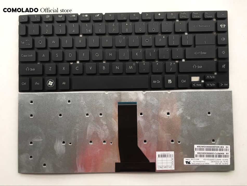 US English Keyboard for <font><b>Acer</b></font> <font><b>Aspire</b></font> 3830 3830G 3830T 3830TG <font><b>4830</b></font> 4830G 4830T <font><b>4830TG</b></font> V3-471 4755 4755g E1-410 US Layout image