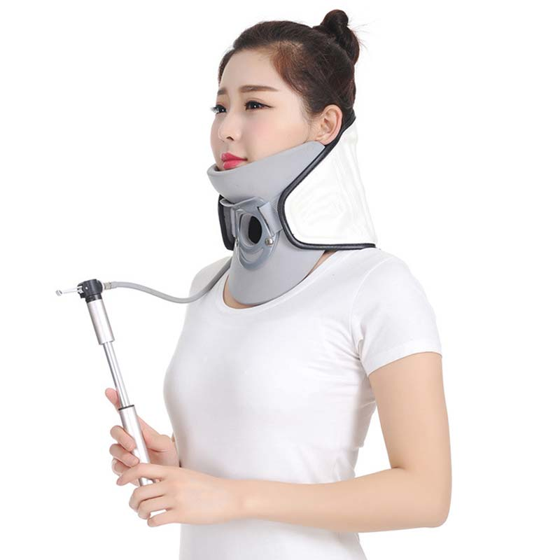 Cervical Vertebra Tractor Household Inflatable Collar Cervical Neck Traction Device Neck Stretcher Health Care CCP040 ifory health care inflatable cervical collar traction device neck stretcher protector vertebra traction massager medical care