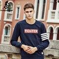 Pioneer camp 2017 nova marca de moda de alta qualidade mens hoodies causal único macho impressão clothing primavera outono juro 622108