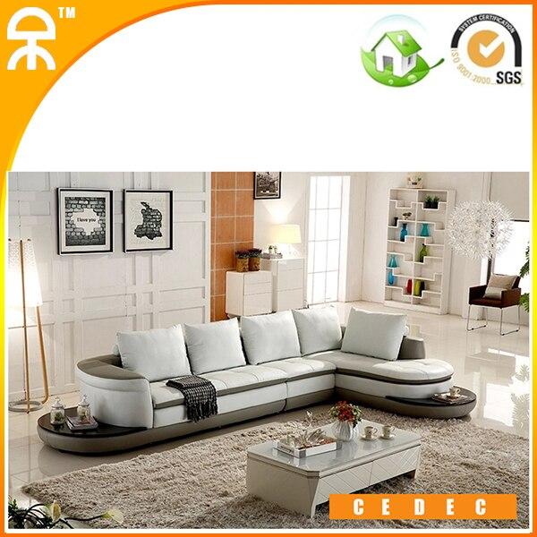 US $2200.0 |(3 posti + salotto + 1 sedile/lotto) bianco divano in pelle  mobili per soggiorno # CE A300-in Divani da soggiorno da Mobili su ...