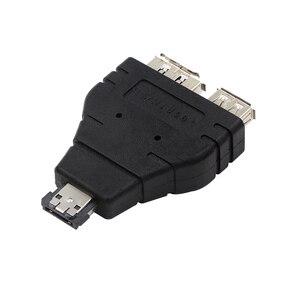 Image 2 - Power eSATA To eSATA  USB Combo Splitter Converter Adapter Connector Hard Disk Cable Dual Port Converters Universal