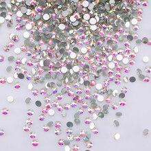 Glitter 3d Nail Art Rhinestones Ab Flatback Rhinestone For Clothes Non Hotfix Round Glass Shapes Z130