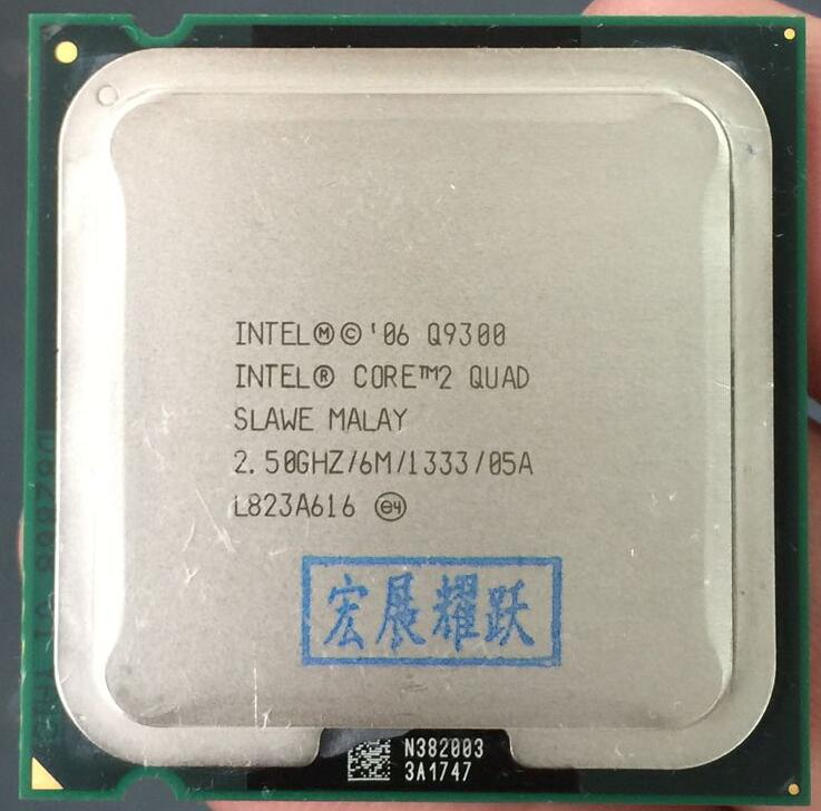 PC ordinateur Intel Core2 Quad Processeur Q9300 (6 M Cache, 2.50 GHz, 1333 MHz FSB) LGA775 Bureau CPU