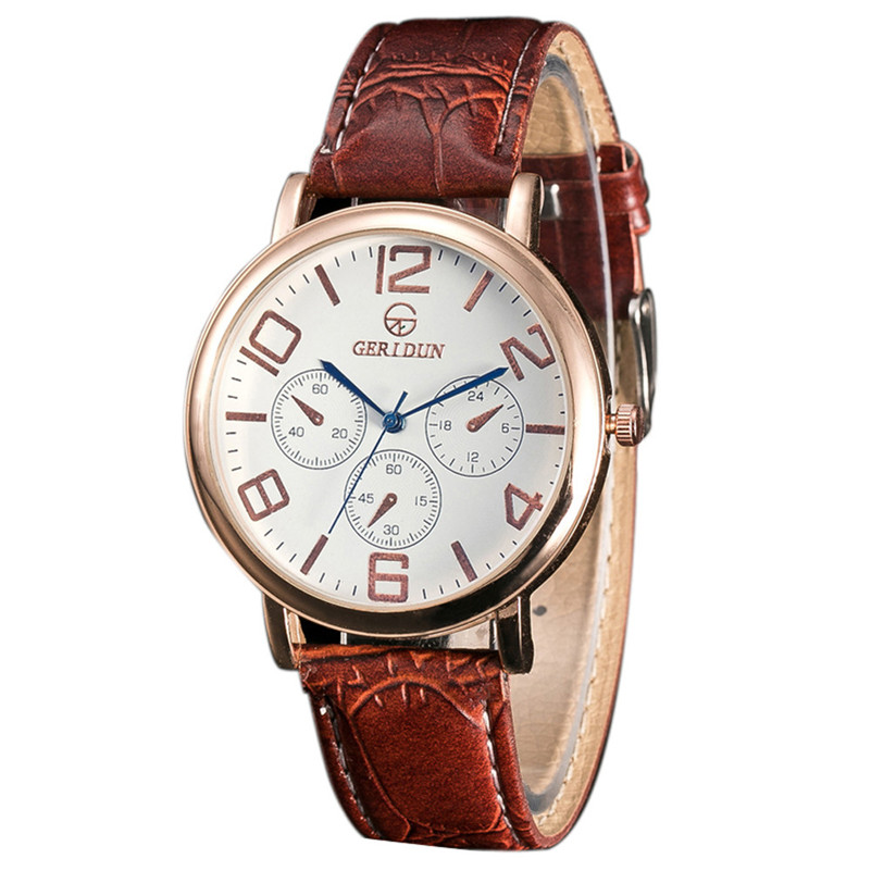 Hot sale!! 1PC Fashion luxury watch Men Leather Band Watches Sport Analog Quartz Wrist vogue delicate Watch Free Shipping NA27