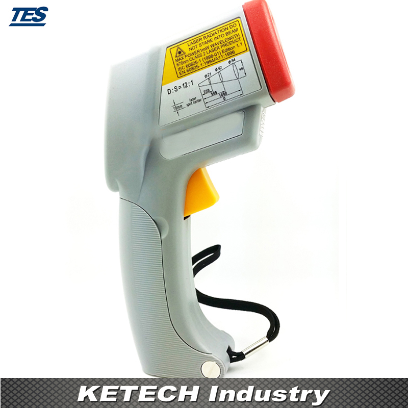 TES-1326S Infrared Laser Thermometer(-35-500C) tes 1326s industrial infrared thermometer 35 500c
