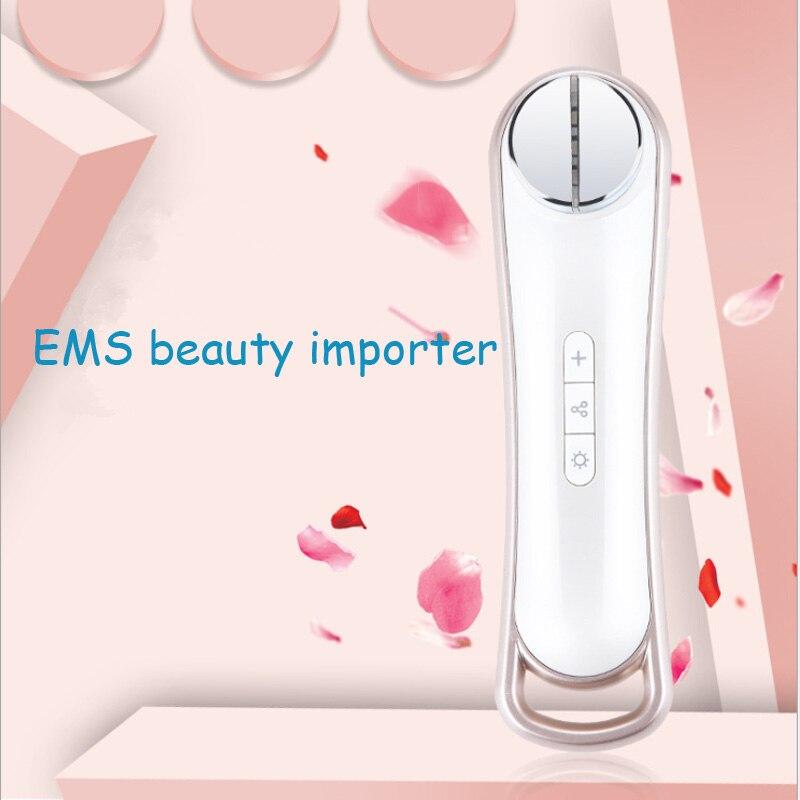 Ultrasonic Beauty Plastic Instrument RF RF Compact Color Light Skinning Machine EMS Beauty Instrument Home Import Instrument in Face Skin Care Tools from Beauty Health
