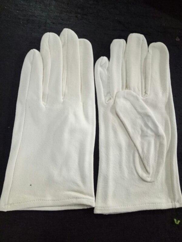 Натуральная замша игровой браслет из деревянных бусин перчатки толстые оленьей кожи Перфорированные дышащие белые кожаные перчатки S73 - Цвет: Pure suede