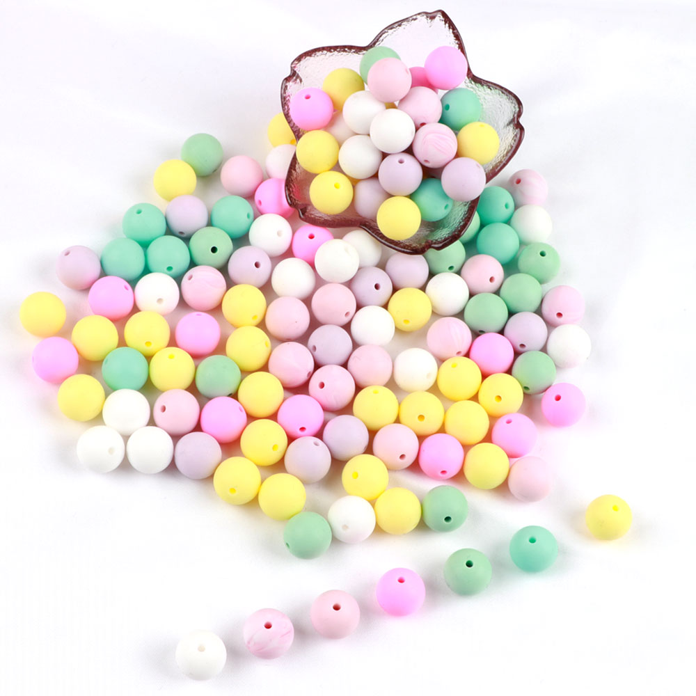 Methodical Tyry.hu 10pc/lot Silicone Baby Teething Necklace Beads Food Grade Baby Chewable Beads Diy Jewelry Gift Toy Accessories 15mm Rich And Magnificent Beads & Jewelry Making Beads