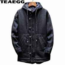 TEAEGG Plus Size 4XL 5XL Denim Men's Winter Jacket Casual Jackets Men Clothing 2017 Mid Long Warm Parkas Hombre Invierno AL619