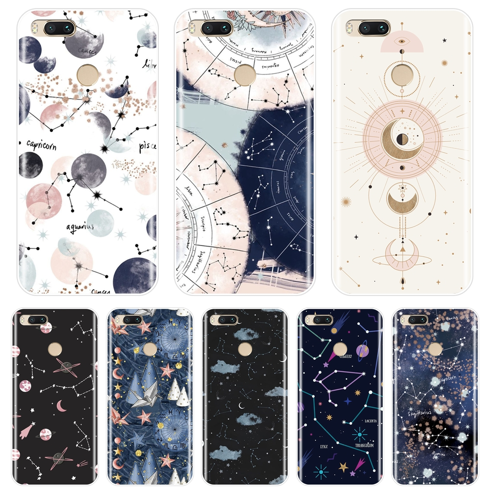 Soft Silicone Phone <font><b>Case</b></font> For Xiaomi Mi A1 A2 Lite 8 <font><b>SE</b></font> Mi5 Mi6 <font><b>Mi8</b></font> Art Star Space Back Cover For Xiaomi Mi 5 5C 5S 5X 6 6X Plus image