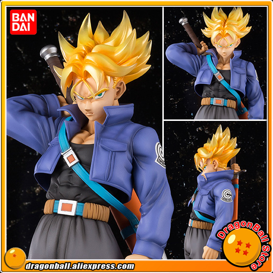 Japan Anime Dragon Ball Z 100% Original BANDAI Tamashii Nations Figuarts Zero EX Completely Figure - Super Saiyan Trunks cmt original bandai tamashii nations s h figuarts shf dragon ball db kid son gokou action figure anime figure pvc toys figure